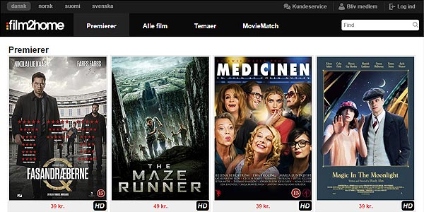 Film2home - Lej Film Online